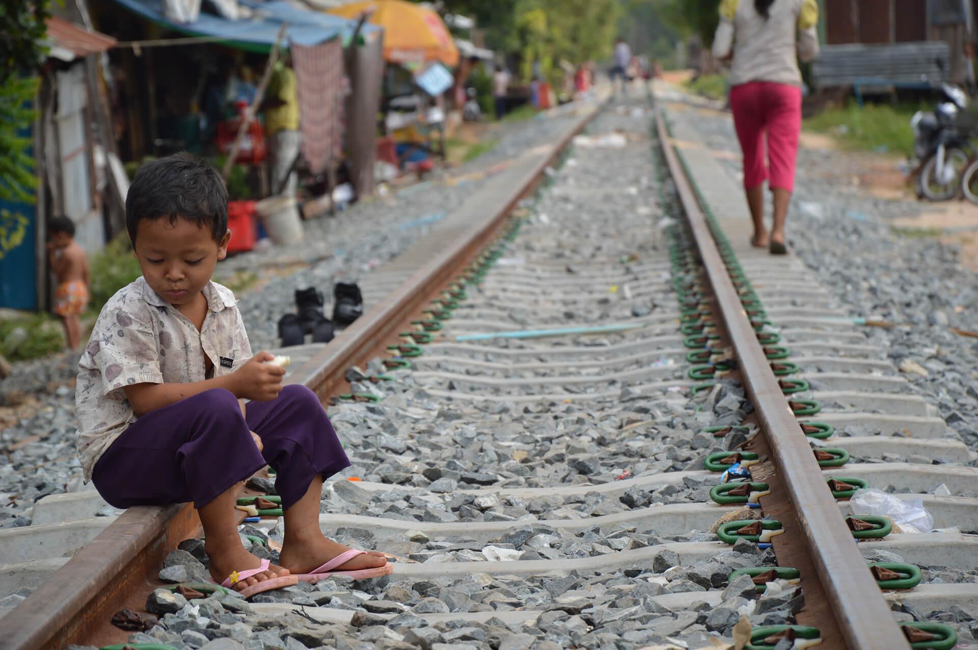 Barn som lever på gatan