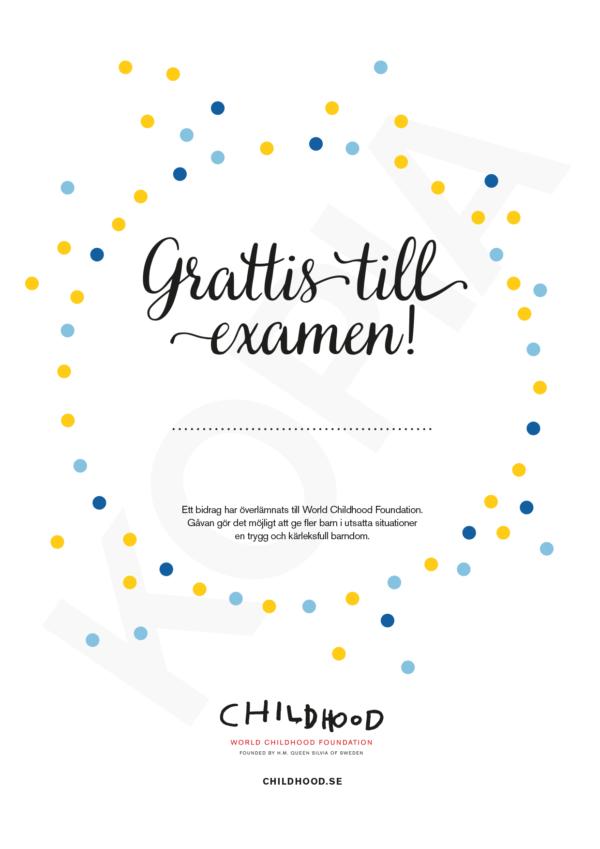 Grattis till examen!